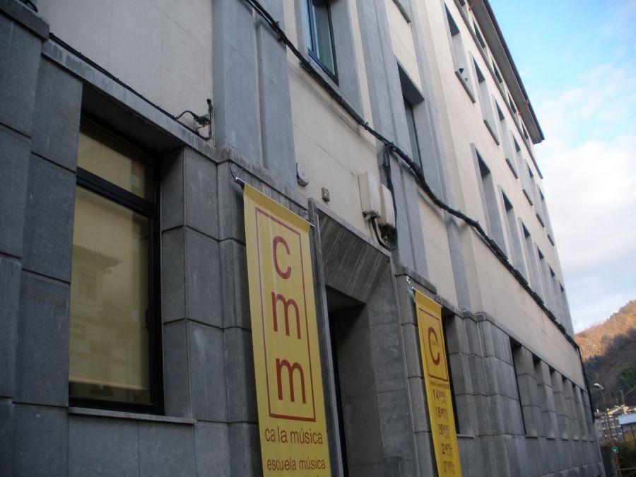 Fachada principal de La Casa de la Música de Mieres