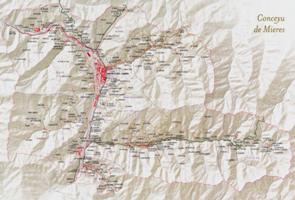 Mapa del Concejo de Mieres