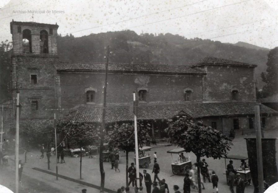 Antigua Iglesia de San Juan y Plaza de la Pasera (Fotos Frank, 1927)