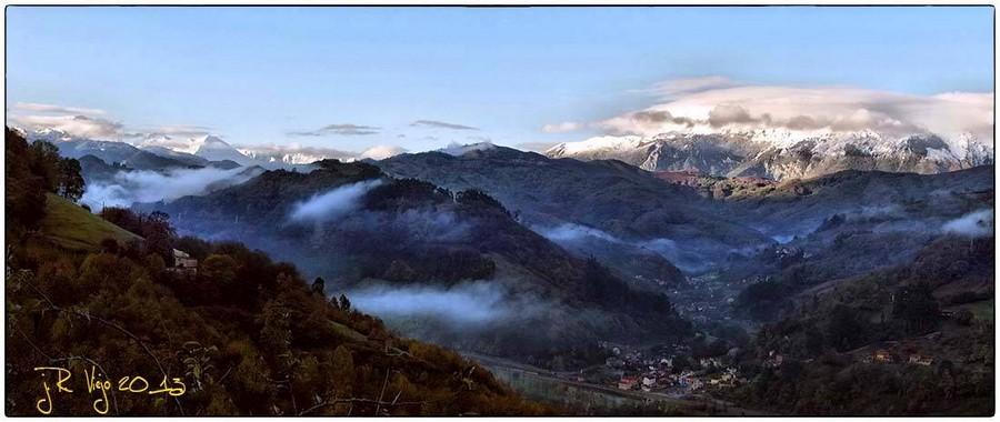 Valle de Cuna y Cenera, con el Aramo al fondo | José Ramón Viejo