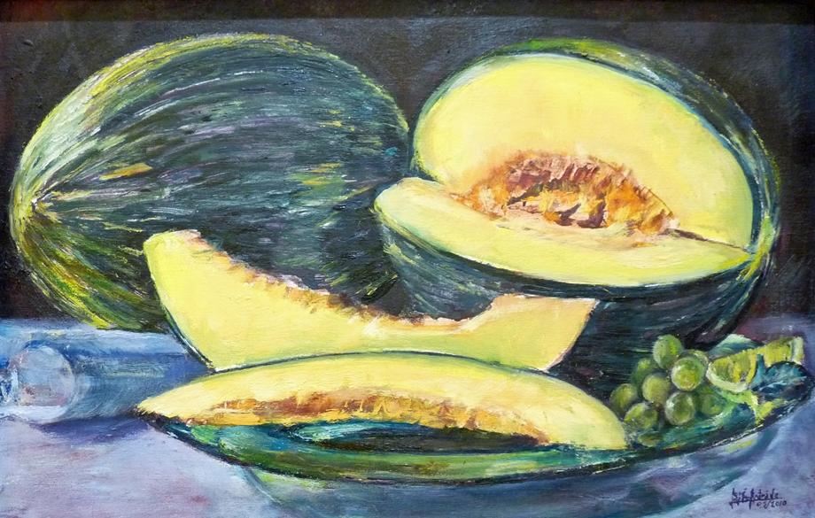 Lascas de melón | Autor: José J. López Andrade