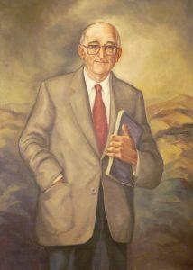 Retrato de D. Vital A. Buylla Rodríguez'(Alcalde de Mieres 1979-1984)   Autor: Inocencio Urbina
