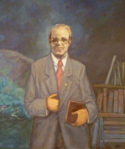 'Retrato de D. Eugenio Carbajal Mtnez.'(Alcalde de Mieres 1984-1991)   Autor: Inocencio Urbina