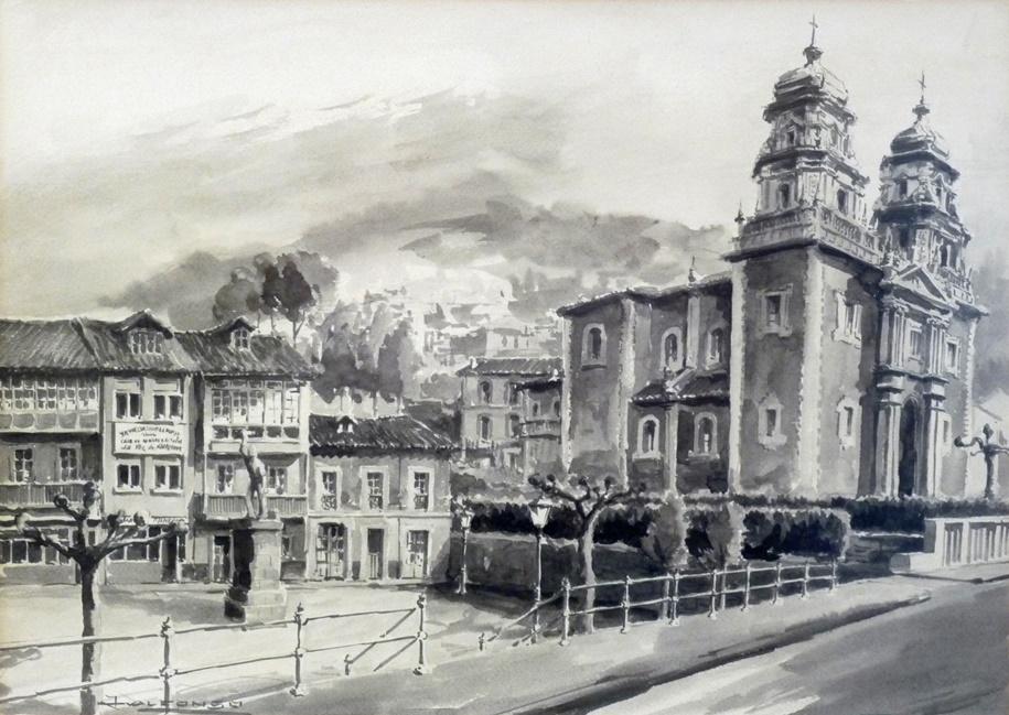 Plaza de Requexu y la Iglesia de San Juan | Autor:  J. Alfonso