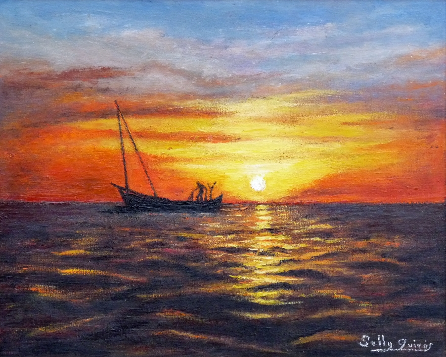 Autor: Selly Quirós ( Óleo sobre lienzo 0,45x0,40cm)