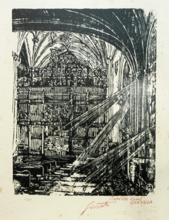 Capilla Real Granada | Sócrates Quintana (Xilografía 0,33x0,40)