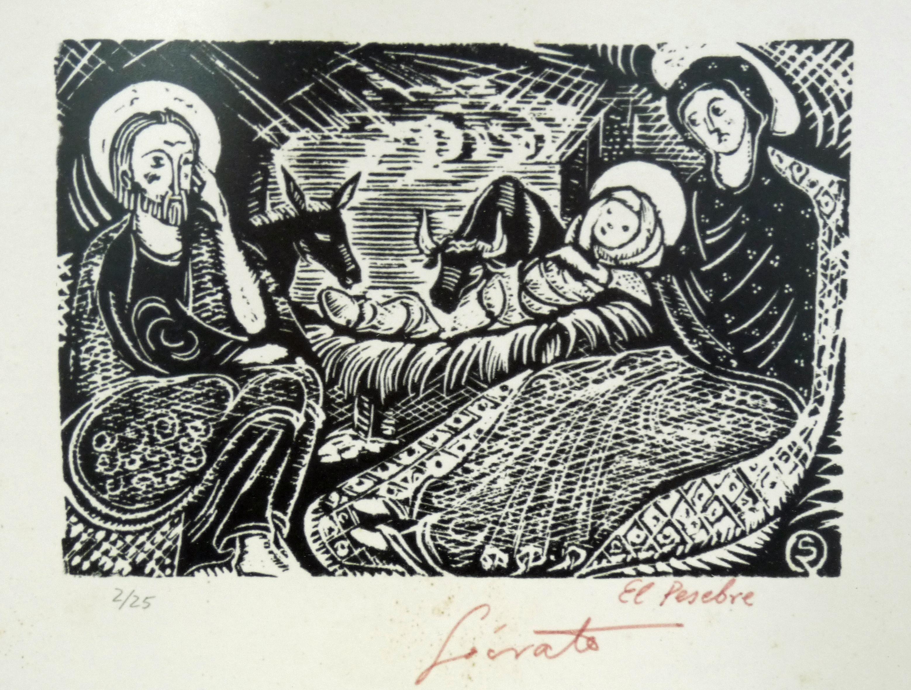 El Pesebre | Sócrates Quintana (Xilografía 0,33x0,26)