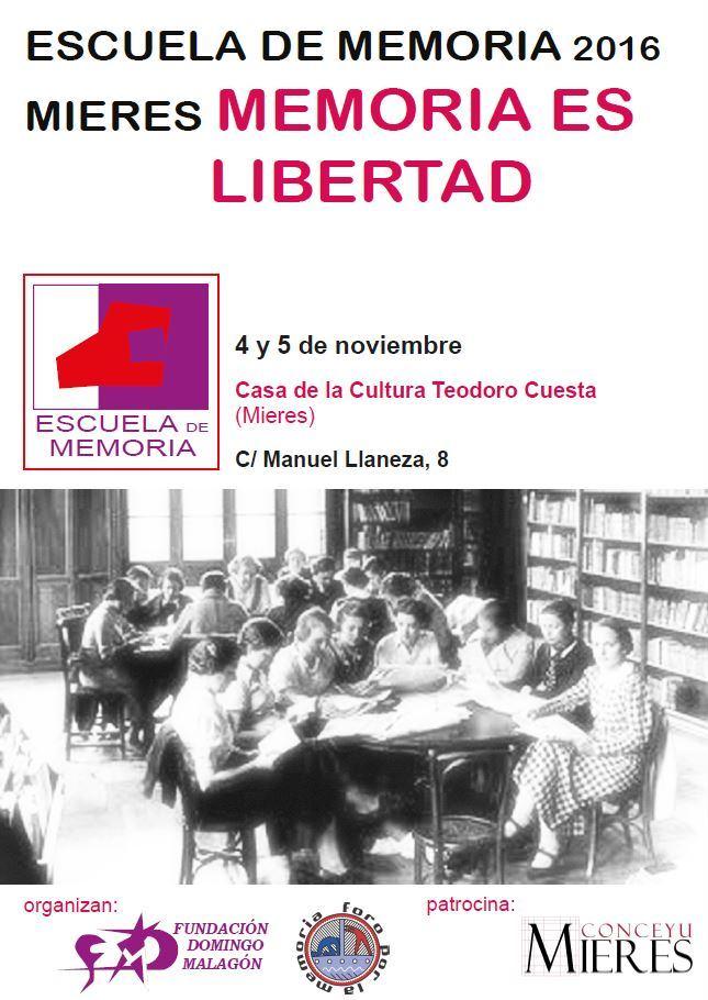 Jornadas Escuela de Memoria 2016