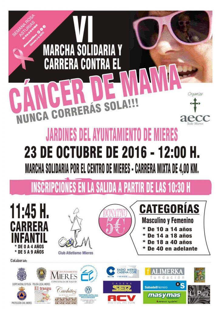 VI carrera contra el cancer de mama