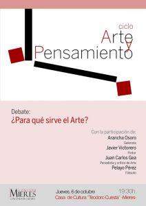 cartel ciclo Arte y Pensamiento octubre web