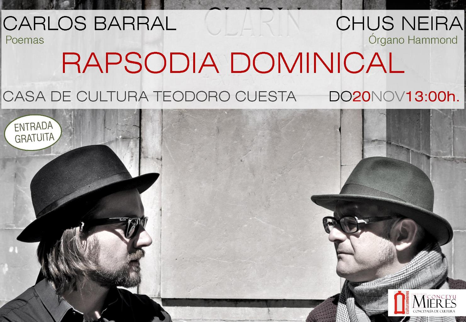 Cartel Rapsodia Dominical
