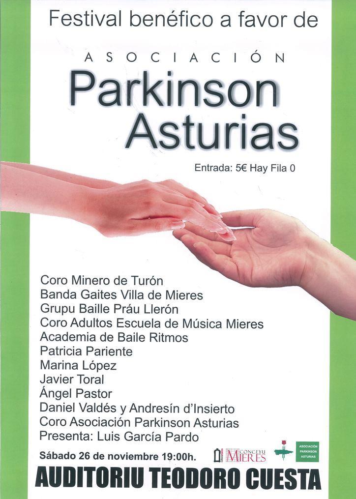 Cartel festival benefico Parkinson Mieres