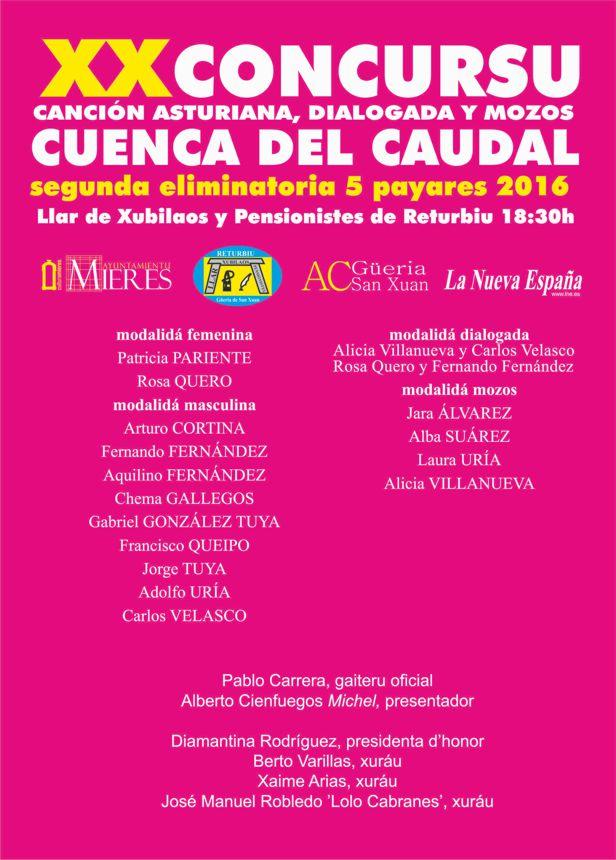 XX Concursu Cuenca del Caudal-SEGUNDA eliminatoria