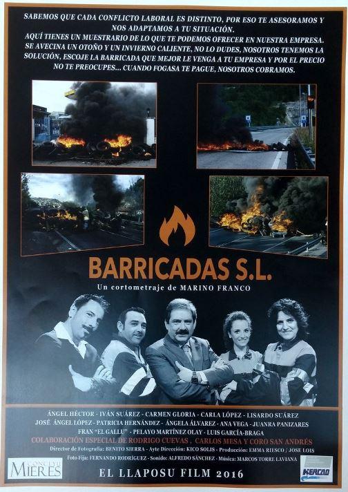 cartel barricadas
