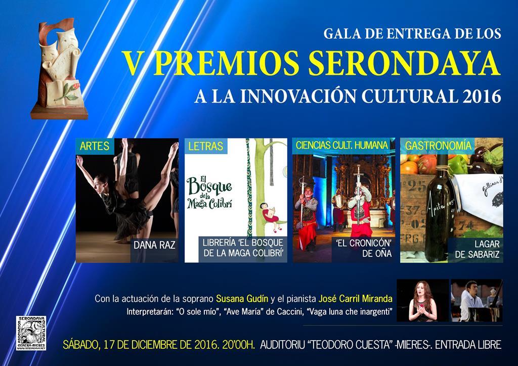Cartel Gala Premios Serondaya 2016 web