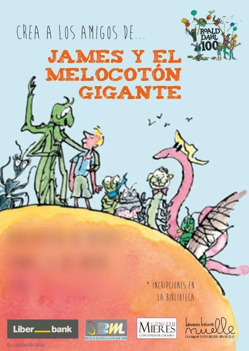 Cartel Crea los amigos de james y el melocoton gigante