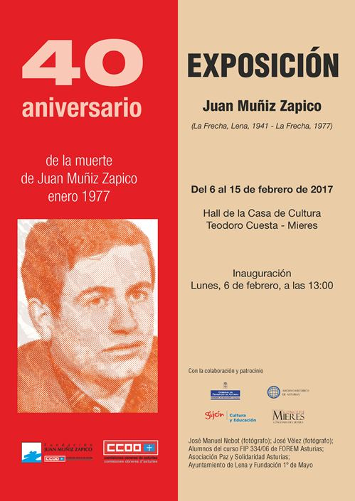 Cartel exposicion Juan Muniz Zapico Mieres