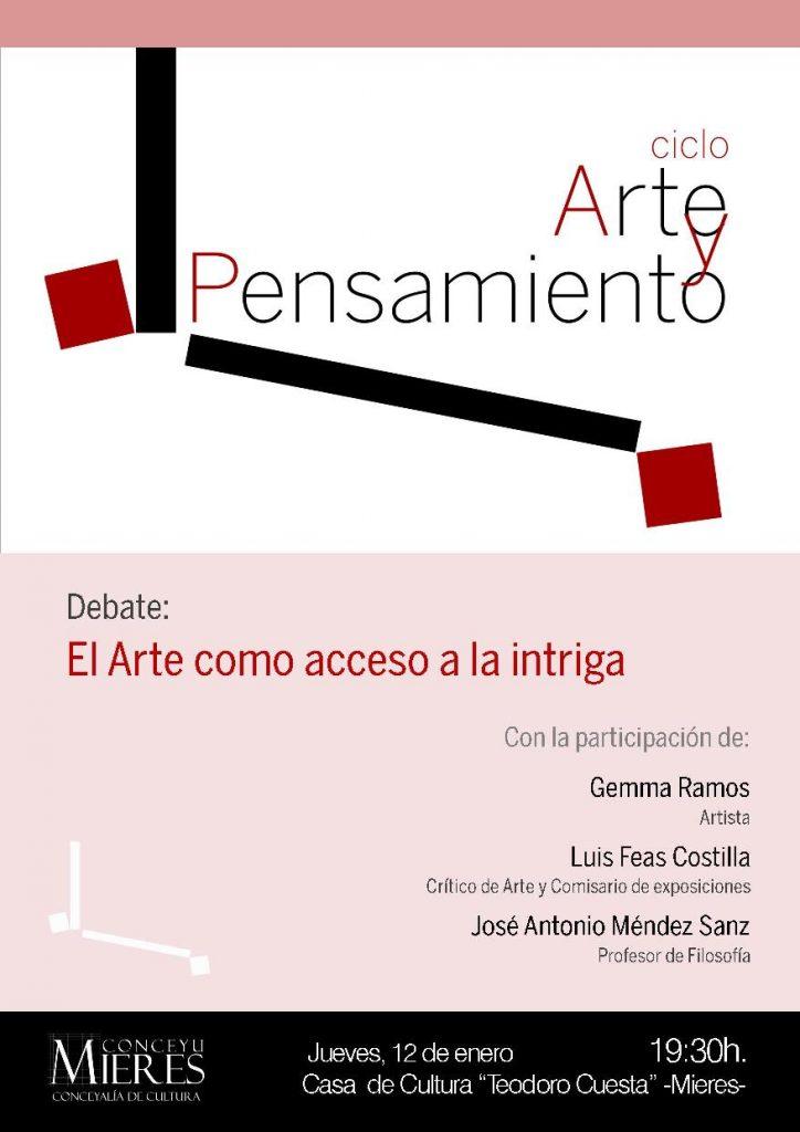 cartel ciclo Arte y Pensamiento 12ENEweb