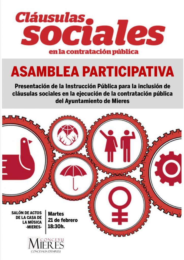 Asamblea participativa Clausulas Sociales cartel web