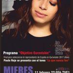 Cartel apoyo Eurovision Paula Rojo