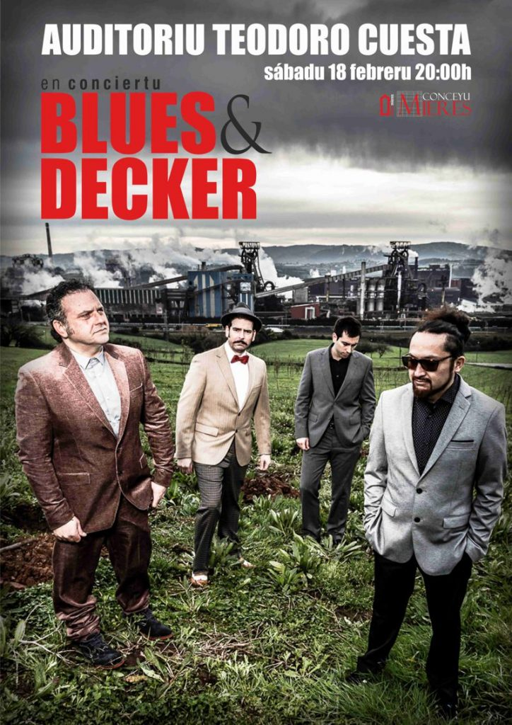 cartel concierto mieres blues decker