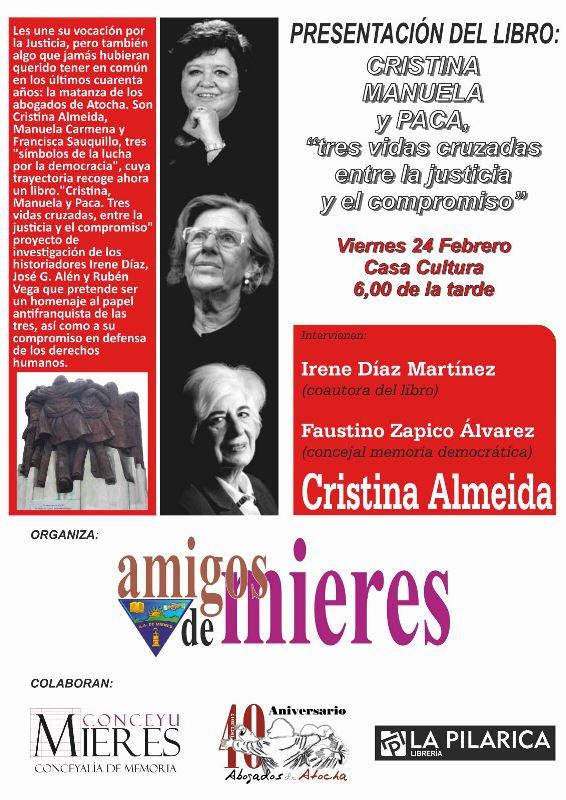 cartel presentacion libro cristina manuela paca