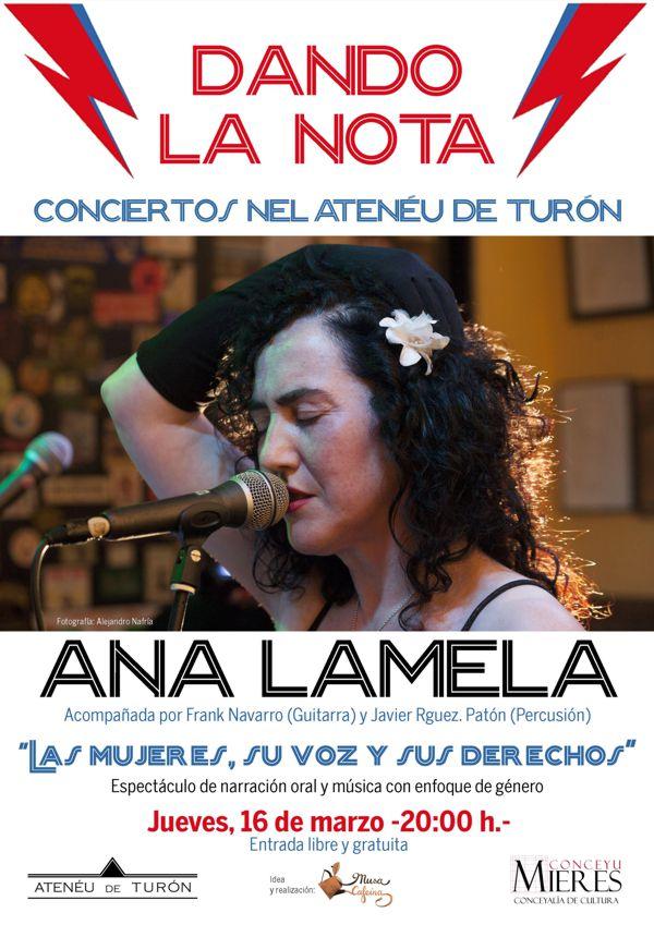 Cartel Concierto ANA LAMELA web