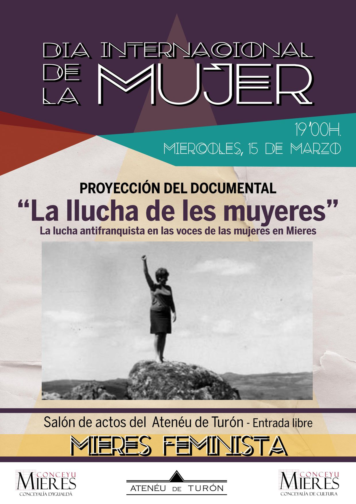 Cartel Documental Llucha de les Muyeres Turón web