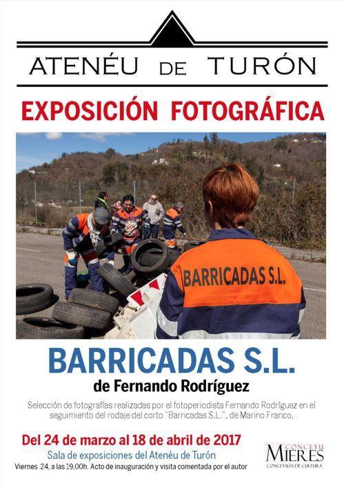 Cartel Exposición fotografías BarricadasSL