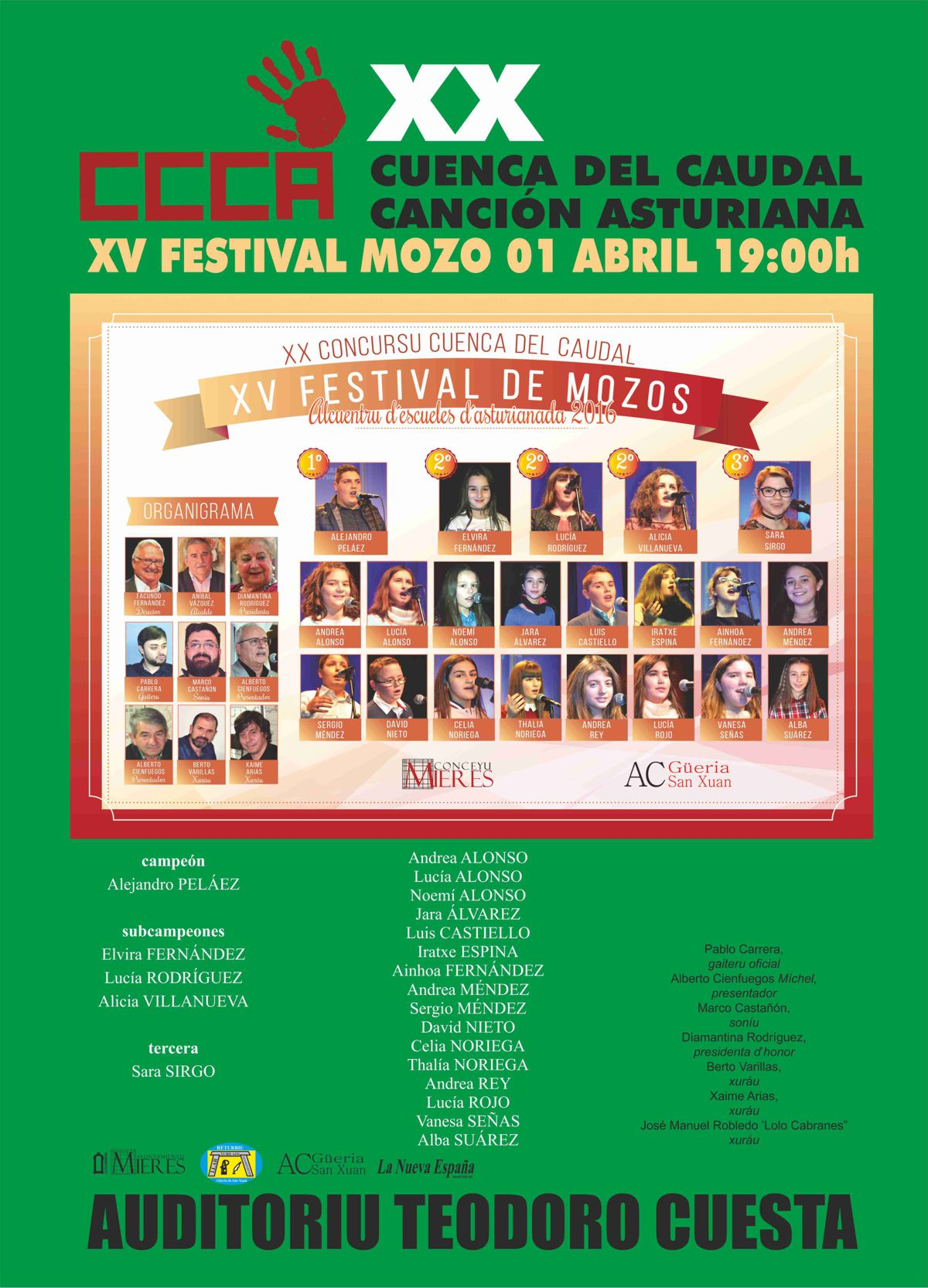 Cartel FESTIVAL MOZO 2017