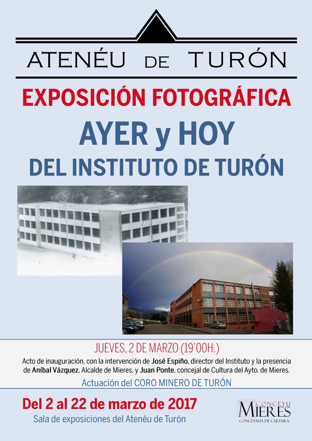 Cartel exposicion ayer hoy Instituto de turon web