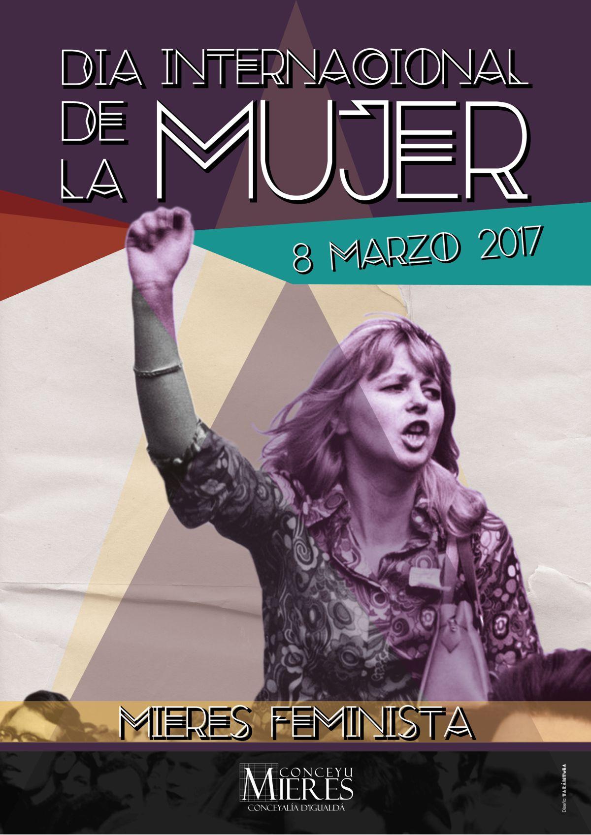 Cartel general Dia Internacional de la mujer MIERES