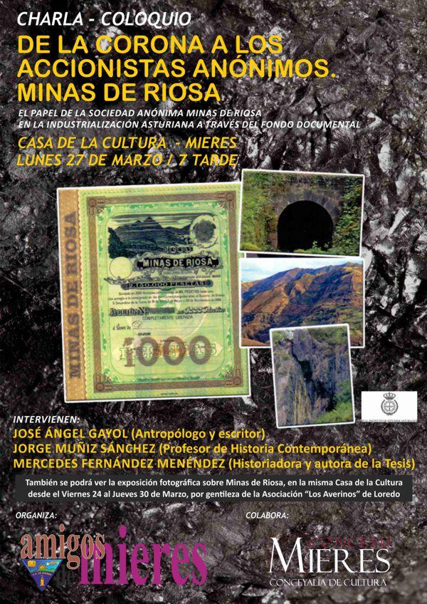 Cartel web Charla Coloquio Minas de Riosa