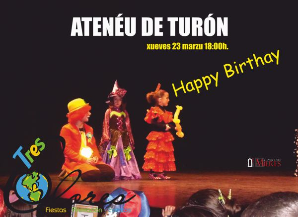 Teatro infantil Happy Birthay Tres Colores