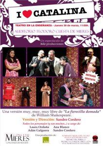 cartel I Love Catalina - teatro en la enseñanza