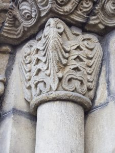 Capitel Motivos Vegetales Iglesia de Santa Eulalia (Fot. Carlos Salvo - AF Semeya)