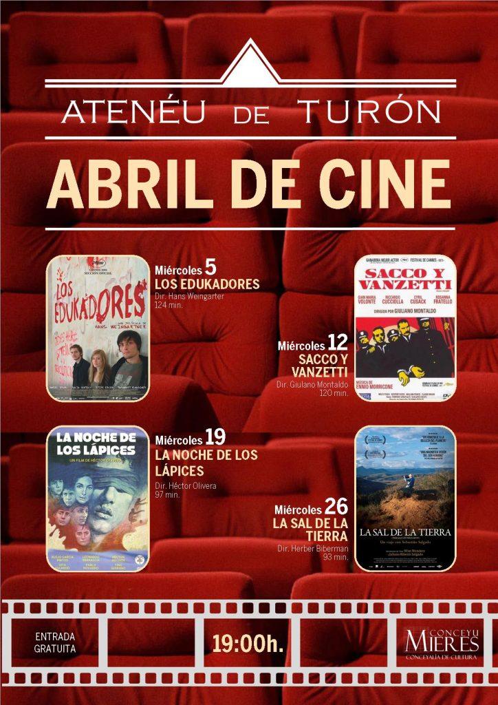 Cartel Cine Turón 201704