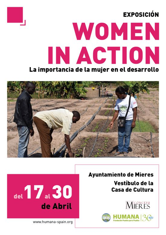 Cartel exposicion women in action mieres