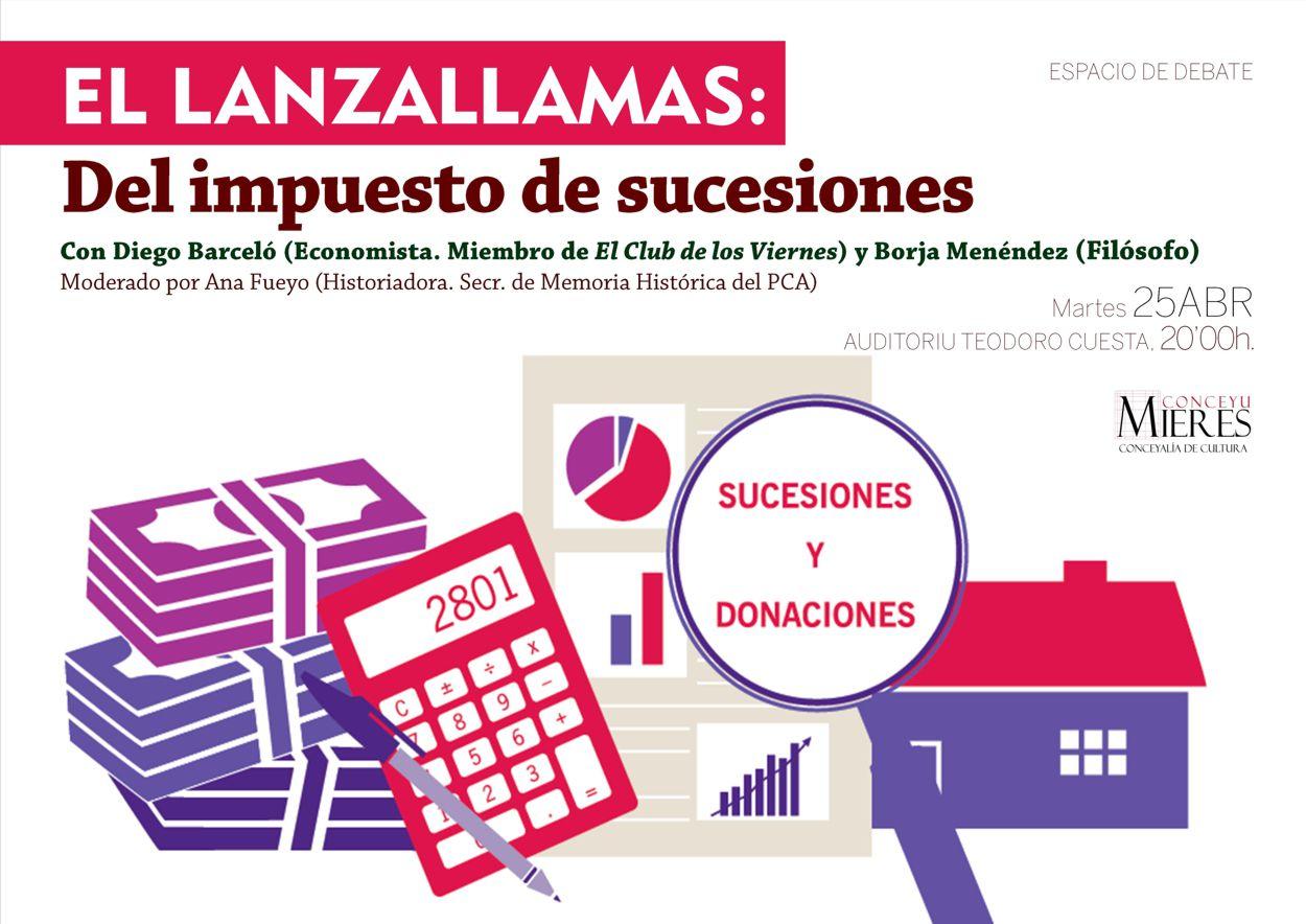 Cartel web El Lanzallamas Impuesto Sucesiones