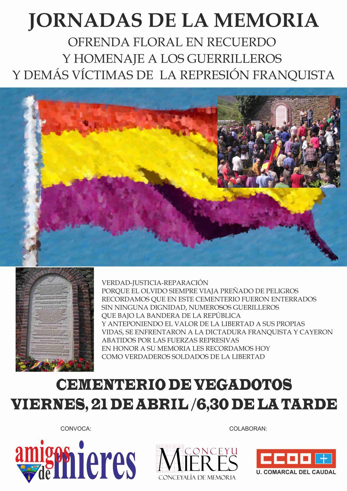 Cartel web Jornadas de la Memoria vegadotos 2017