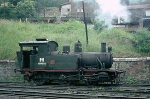 Locomotora de vapor HT_110 - Pozo San Jose (Fot: Herbert Schambach - Museo del Ferrocarril de Asturias)
