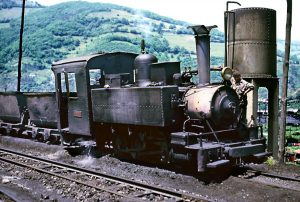Locomotora de vapor she-8 - Turón (Fot: John Carter - Museo del Ferrocarril de Asturias)