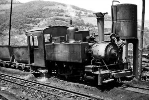 Locomotora de vapor she8 - Turón (Fot: John Carter - Museo del Ferrocarril de Asturias)