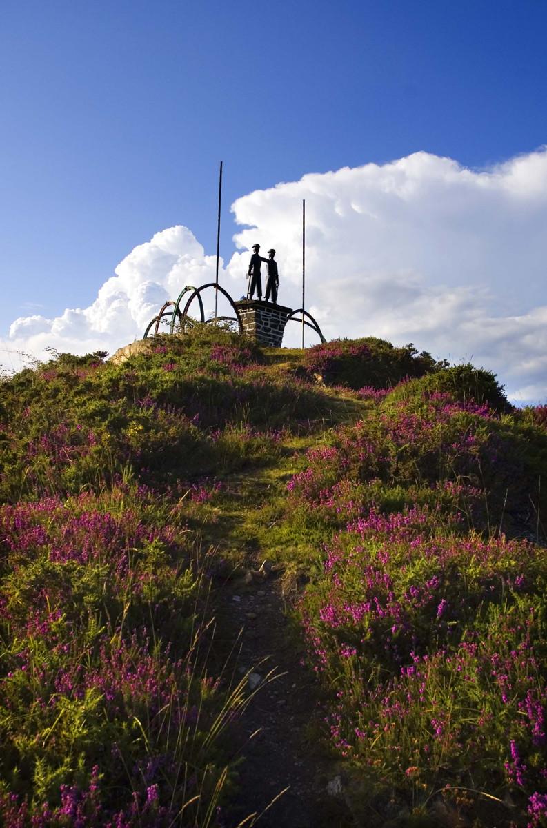 Monumento al minero en la Col.ladiel.la (Fot.: José Luis Soto).
