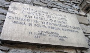 Placa conmemorativa Casa Natal Aniceto Sela