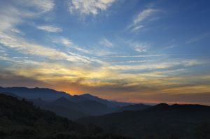 Puesta de sol en el A.R La Teyerona (Fot.: Yolanda Suárez- AF Semeya).