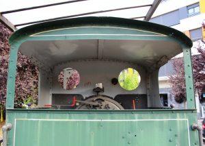 Vista del interior de la locomotora de vapor SHE 11