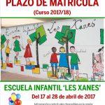 cartel web  abierta matricula Les Xanes 2017
