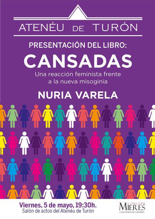 cartel web libro Nuria Varela Cansadas Ateneu Turon