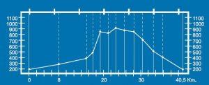 Altimetría del circuito Codal de Rozamayor BTT MI-3